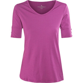 Royal Robbins Merinolux Maglia con collo a V Donna, aster